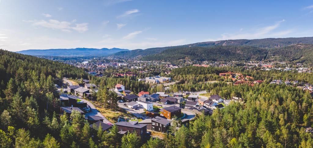 Kampestad boligområde i Kongsberg